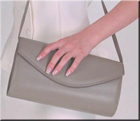 Genuine lambskin leather clutch