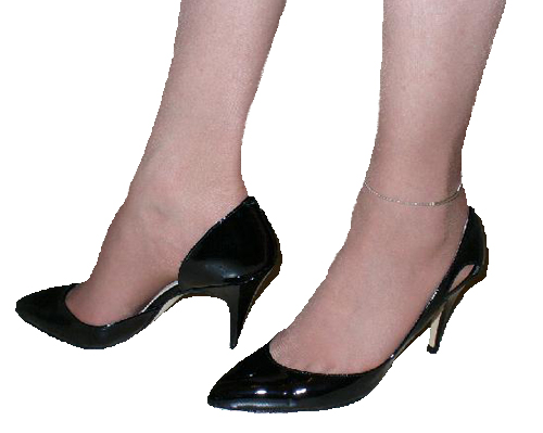 Roxy in black patent