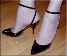 Laura in black patent